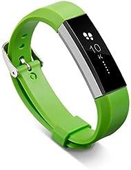 For Fitbit Alta, Ouneed ® Muñequera de sustitución de la banda de la hebilla de la correa Para Fitbit Pulsera Alta (Verde)