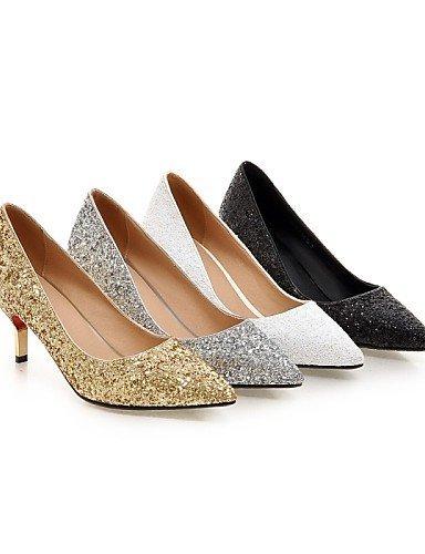 ShangYi Chaussures Femme - Mariage / Bureau & Travail / Soirée & Evénement - Noir / Blanc / Argent / Or - Talon Aiguille - Talons - Talons - golden