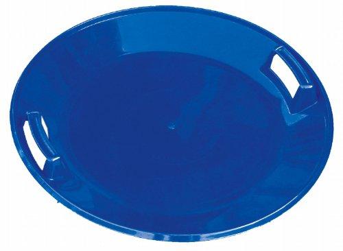 Kunststoff-Schneerutscher rund Blau