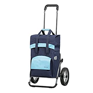 Andersen Shopping trolley Royal with bag Holly blue, Volume 49L, steel frame and metal-spoked wheels