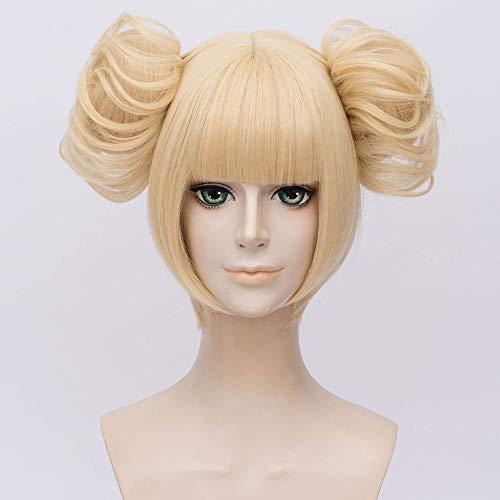 LanTing My Hero Academia von Himiko Toga cosplay perücke Frau Kurz cosplay Wig perücke karneval fasching Halloween Party, ()