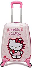 """EXCLUSIVE FASHION LUGGAGE Polycarbonate Kid's 360 Rotating Luggage wheels Bag, Printed Pattern Non-Breakable,16-inch Length,(Exffhel16"""", Pink)"""