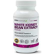 HSN Essentials - Extracto de Alubia Blanca - 500mg - Bloqueador de Carbohidratos - 120 Cápsulas