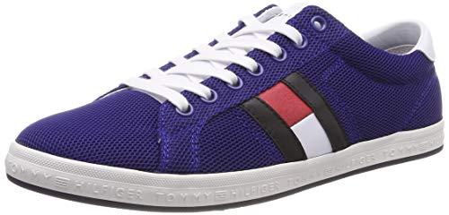 Tommy Hilfiger Essential Flag Detail Sneaker, Scarpe da Ginnastica Basse Uomo, Blu (Midnight 403), 41 EU