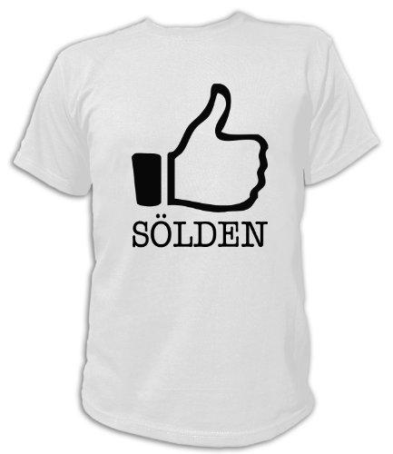 Artdiktat T-Shirt I like Sölden Unisex, Grösse XXL, weiß