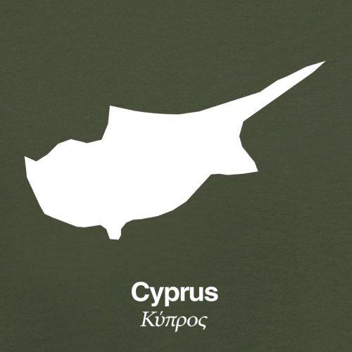 Cyprus / Zypern Silhouette - Herren T-Shirt - 13 Farben Olivgrün