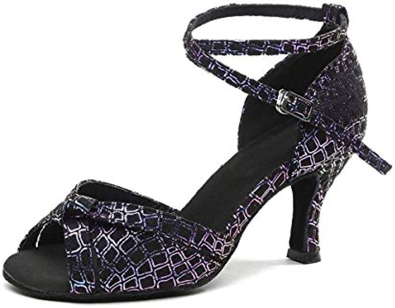Qiusa GL244 Ladies Peep Toe viola Sintetico Latino Sala da Ballo Tango Salsa Scarpe da Ballo Partito di Nozze... | Uscita  | Sig/Sig Ra Scarpa