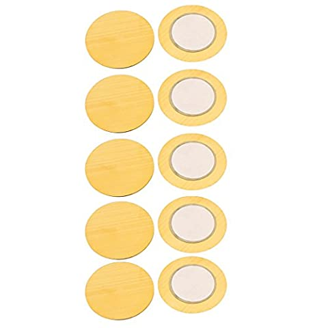 sourcingmap® 10pcs 27mm Diamètre Piezo Disques Piézoélectrique Céramique Cuivre Buzzer Film Joint