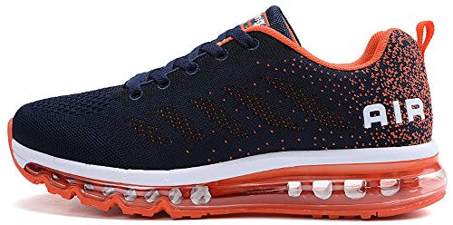 Unisex Uomo Donna Scarpe da Ginnastica Corsa Sportive Fitness Running Sneakers Basse Interior Casual all'Aperto (Blu Scuro,38 EU)