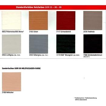 """Gori 99 DECKende Holzfarbe """"Der Holzfassaden-Spezialist"""" 750ml Lichtgrau 2052"""