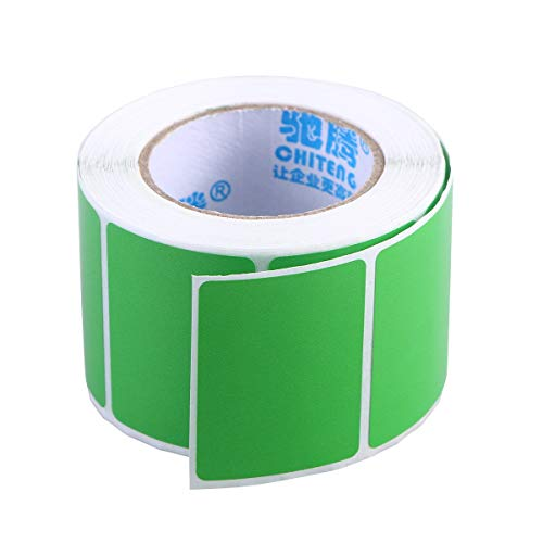 Toymytoy Blank trasporto stampante a trasferimento termico etichette adesive adesivi (blu) 40 x 30 mm Light Green