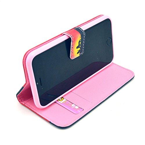 """MOONCASE iPhone 6 Plus Case Motif Conception Coque en Cuir Portefeuille Housse de Protection Étui à rabat Case pour iPhone 6 Plus (5.5"""") P09"""