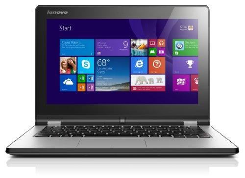 Lenovo YOGA 2 29,5 cm (11,6 Zoll) Convertible Ultrabook (Intel Celeron N2940 Quad-Core Prozessor, 4GB RAM, 500GB HDD, HD Grafik, Touchscreen, Windows 8.1) hell silber - Lenovo Ultrabook Yoga 2