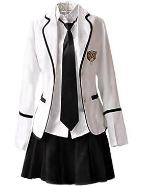 URSRUR Uniforme escolar japonés de niñas chicas traje de marinero de manga larga traje de cosplay de anime