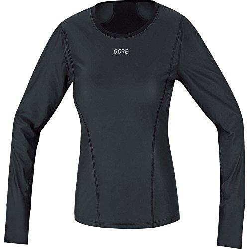 GORE Wear Winddichtes Damen Thermo-Unterzieh-Shirt, GORE M Women WINDSTOPPER Base Layer Thermo L/S Shirt, 38, Schwarz, 100321