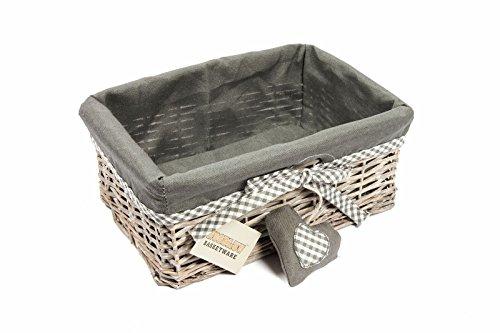 Woodluv Grey Wicker Storage Gift...