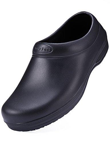 Restaurant Schuhe, Rutschfeste (SensFoot Rutschfeste Arbeitsschuhe für Die Küche&Gastronomie Damen Schwarze Schuhe (38 EU))
