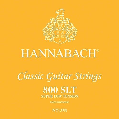 Hannabach corde per chitarra classica serie 800 super low tension argentato muta 3 corde basse