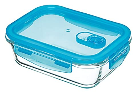 KitchenCraft Pure Seal Airtight Glass Food Container / Oven Dish,