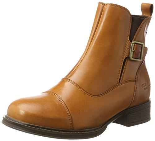 TEN POINTS Damen Pandora Biker Boots, Braun (Cognac), 39 EU