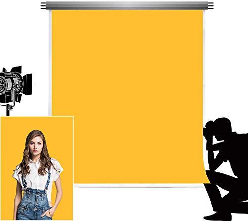 Kate Abstrait Fond Retro Solide Couleur Jaune Photographie Photo de Toile de Fond pour Studio de Naissance Nouveau Tir 5x7ft/1.5x2.2m