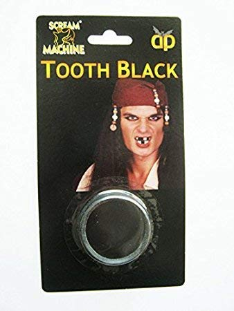DIENTES NEGRO pierdas CHIMUELO Halloween Pirata Maquillaje