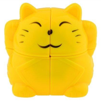 YJ2x2x2 Rojo cubo gato Mod rompecabezas rompecabezas