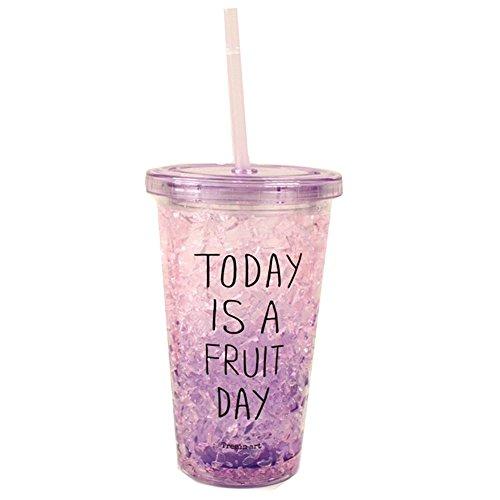 Hensych® Mugs de Voyage Tasse en plastique idéal pour des Vacances, des Barbecues, en plein air (Purple)