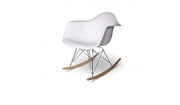 Sedia A Dondolo Rar Eames : Artisan sedia a dondolo rar eames in bachelite opaca bianco
