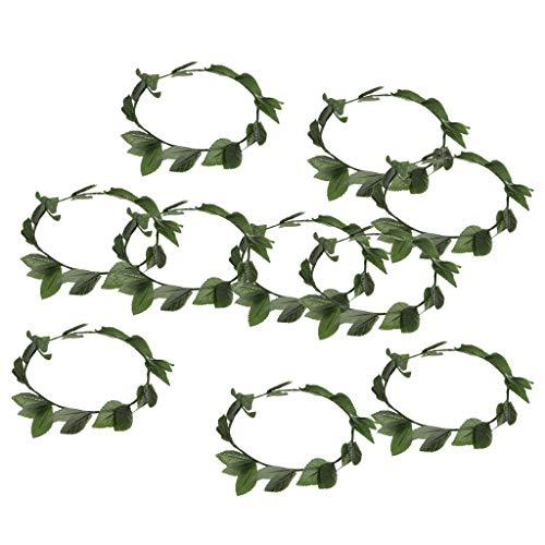 F Fityle 10pcs Damen Blatt Stirnband ()