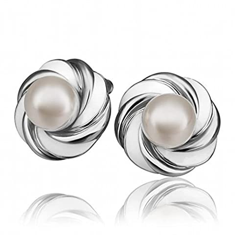 Petite Et Exquise Protection de L'environnement Or Fashion Féminin Perle Round Studs / Stainless Steel / Anti-allergy / Silver Flashing / Pearl Earrings,A