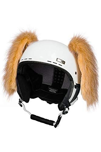 Crazy Ears Helm-Accessoires Hase Hund Ohren Ski-Ohren Tierohren, CrazyEars:Braune Hunde Ohren