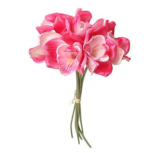 Lazzboy Unechte Blumen,Künstliche Deko Blumen Gefälschte Blumen Blumenstrauß Seide Wirkliches Berührungsgefühlen, Braut Hochzeitsblumenstrauß für Haus Garten Party Blumenschmuck #08(B)