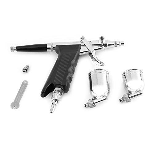 Bewinner Multi-Purpose-Airbrush-Sets für Kunstmalerei 166 mit 2 Tassen Side Feed Spritzpistole Trigger Airbrush (7cc, 10cc) für DIY-Malerei, Basteln, Kuchendekoration, Tätowierung, Wandmalerei