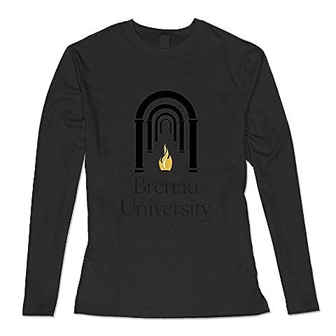 White Brenau University 100% Cotton T-shirts For Sweetheart Medium