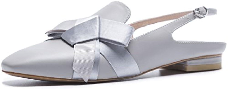 GAOLIXIA Sandalias de cuero del tobillo de las mujeres acentuadas sandalias de verano para mujer del arco del...