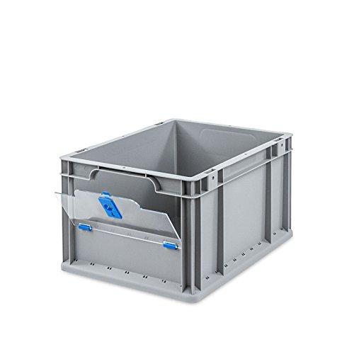 Euroboxen NextGEN Insight Cover - Das Ordnungssystem mit Durchblick - übersichtlich. offen. modular. (400x300x220-Cover hoch, Blau) (Modular-box-system)