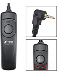 Shoot Kabelfernauslöser mit 110cm Kabellänge für Canon EOS /700D/600D/550D/500D/1000D/1100D/1200D/450D/400D/350D/300D/ 100D/ 70D (Rebel, Rebel XT, Rebel XTi, Rebel XTi, Rebel XS, Rebel T1i, Rebel T2i, Rebel T3i, Rebel T4i, EOS 60D) - sowie GX-20/GX-10/GX-1L Samsung GX-1S und Pentax K20D/K200D/K10D/K100D Super/K100D/K110D (B: 3 Meter Kabellänge)