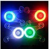 Bheema bicicletta, Cuscino in silicone morbido–raggi luce lampada a LED posteriore 4colori–Purple