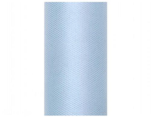 1 Rolle 'Tüll', ca. 15 cm x 9 mtr., FARBE NACH WAHL (hellblau)