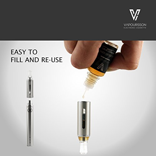 Vapoursson EXVOD | Electronic Cigarette E Shisha Rechargeable | LED Management Display | Micro USB Charging | 10ml Tobacco Liquid | Premium Vaping