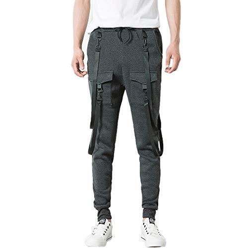 (Yvelands Herren Hose Sporthose Sweatpants Pyjamas Übergrößen Trainingshose Jogginghose (L,DunkelGrau))