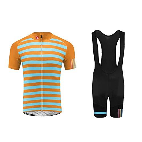 Uglyfrog Herren Sommer Fahrradbekleidung Set, Herren MTB Atmungsaktiv Schnell Kurzarm Radfahren Jersey/Kurzarmtrikot mit 3D Sitzpolster Bici Kit