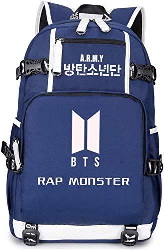 POIUY A.R.M.Y BTS Bangtan Jungen Rucksack SAZ-03 Rucksack Daypack Laptop Tasche Schultasche BTS Rucksack?Rucksack für die Schule
