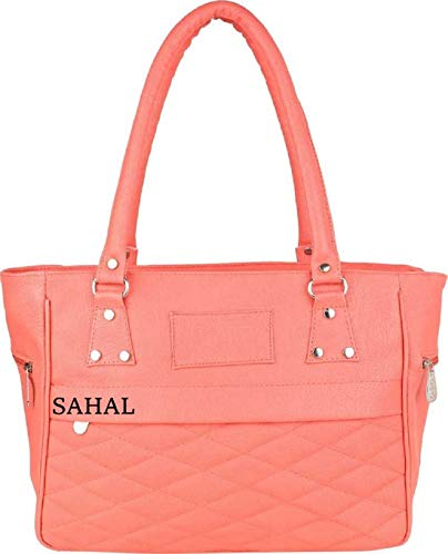 SAHAL Leatherette PU Tassel HAND Bag for Women and Girls College Office Bag, Stylish latest Designer Spacious HAND Bag Purse with Gift for Her (PEACH PINK)