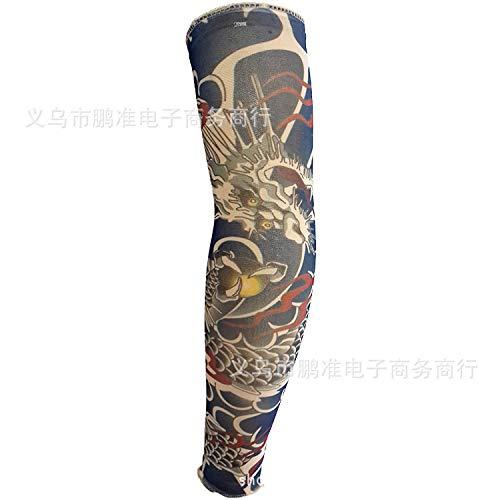 CXQ Tattoo Ärmel Rana Tattoo Ärmel Chinesischen Stil Tattoo Ärmel Große Blume Arm 3D Digital HD Tattoo, D75-1