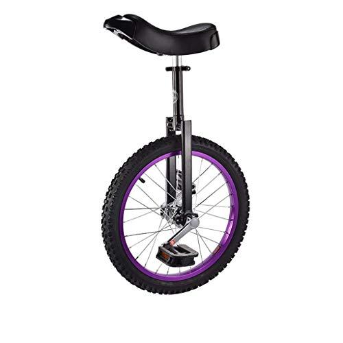 Schubkarre 16 Zoll 18 Zoll Einrad Fahrrad Kind Erwachsene Einrad Fahrrad Einrad,Purple,16inch