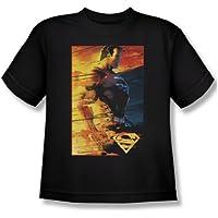 Rivestimento ignifugo-Maglietta per ragazzi, motivo: Superman, colore:
