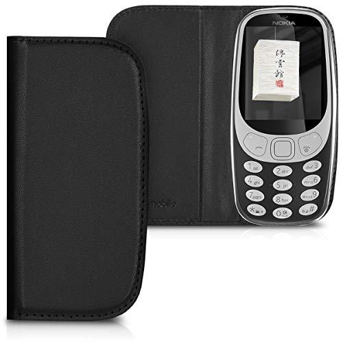 kwmobile Nokia 3310 3G 2017 / 4G 2018 Hülle - Kunstleder Handy Schutzhülle - Flip Cover Case für Nokia 3310 3G 2017 / 4G 2018