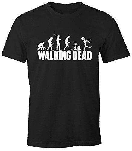 Herren T-Shirt - Walking Dead Zombie Revolution - Comfort Fit MoonWorks® Schwarz